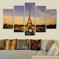 2017 eiffel tower painting home decor art picture print on canvas
