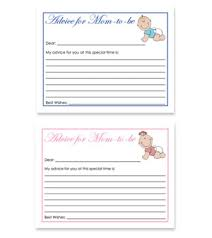 to be advice cards baby theme free baby shower advice for card