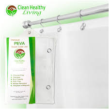 amazon com clean healthy living 70x71 inch peva shower curtain