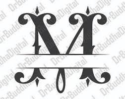 monogram letter split monogram font etsy studio