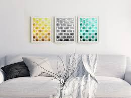 geometric print set download 3 piece abstract wall decor