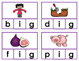 kindergarten phonics cvc words short vowels and word families