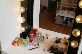 diy dressing room mirror
