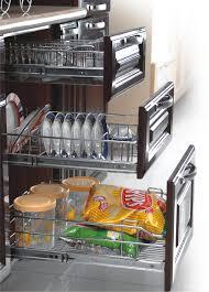 Kitchen Cabinet Plate Organizers Kitchen Amazing Kitchen Accessories Brands With Brown Wood