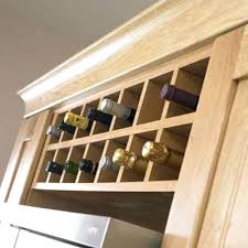 wine rack give your cabinetry a customized look with wine bottle