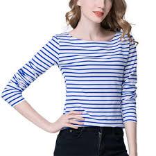 royal blue blouse top s white royal blue cotton striped blouse t shirt top