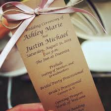 diy wedding programs card stock ribbon and twine easy cheap