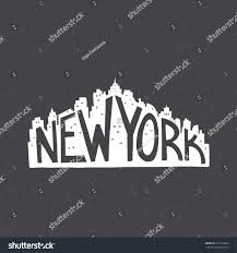 Vintage Home Decor Nyc by New York Vintage Hand Drawn Lettering Stock Vector 315105023