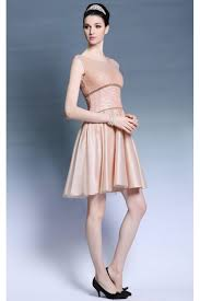 prom dresses online light pink cap sleeves glossy empire