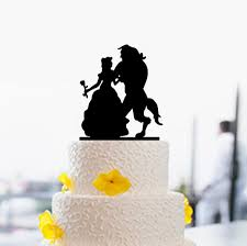 beauty and beast cake topper silhouette cake topper wedding cake