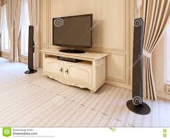 Tv Table Interior Design Classic Bedside Table For Tv Unit In Luxurious Neo Classical Bed