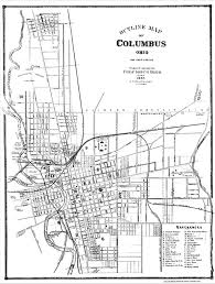 Map Of Columbus Late 1800s Columbus History For Kids