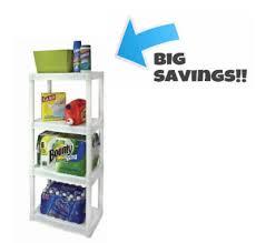 walmart plano 4 tier heavy duty plastic shelves only 12 75