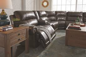 antique sectional sofa dak durablend 6 piece sectional with power ashley furniture