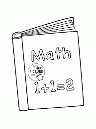 book math coloring page for kids back to coloring