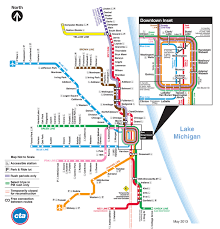 Downtown Chicago Map by Behind The Scenes Evolution Of The Chicago Cta Transit Maps