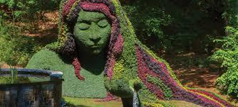 Atlanta Botanical Gardens by Earth Goddess Topiary Imaginary Worlds Exhibition Atlanta Cg