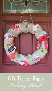 diy tissue paper holiday wreath tissue paper wreaths and