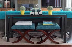 Diy Sofa Table With Stools Underneath Table Ideas Sofa Table With