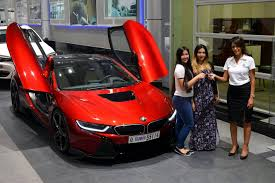 cars bmw red one off lava red bmw i8 built for princess al hawi in abu dhabi