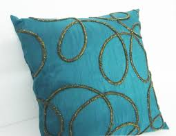 home decor pillows home decor pillow spiral design on teal cushioncover with