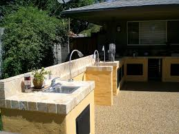 backyard kitchen ideas guitar shape outdoor kitchen sink convenience outdoor kitchen