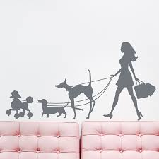 walking dogs wall decal