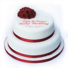 ruby wedding cakes ruby wedding anniversary cake