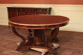 round mahogany dining table high end extra large mahogany dining table with gold leaf mahogany