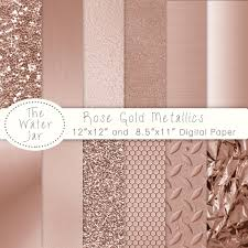 rose gold rose gold digital paper pack with rose gold metallic glitter