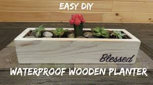diy waterproof wood planter youtube