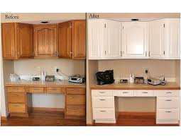 Kitchen Cabinet Door Refinishing by Before And After Kitchen Cabinets Chalk Paint Before And After