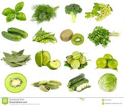 Color Green Vegetables Fruits And Spices Green Color Royalty Free Stock Photo