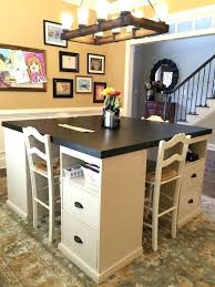 dining room storage ideas table storage ideas crafting and homework station instead of a