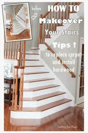How To Install Stair Banister How To Makeover Your Stairs Tips To Replace Carpet And Install