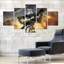star wars living room 5 panel modern canvas painting star wars wall art the force awakens