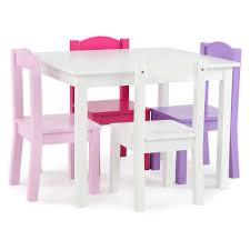 tot tutors table chair set tot tutors friends 5 piece white pink purple kids table and chair