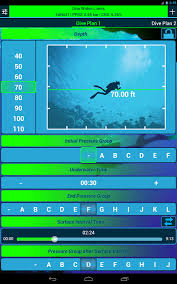 Padi Dive Tables by Dive Planner 2 Free Android Apps On Google Play