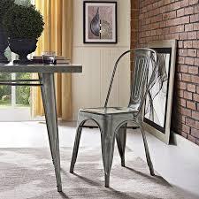 Distressed Bistro Chair Ashlyn Metal Side Chair Powder Coated Steel Non Marking Foot Pads