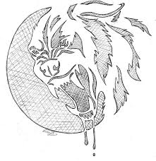 werewolf growl pumpkin stencil by siosin on deviantart