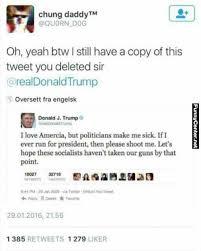 Tweet Meme - donald trump deleted tweet funny relatable pinterest donald