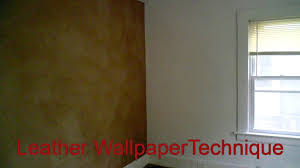 wallpapering tutorial leather wallpapering technique great wall
