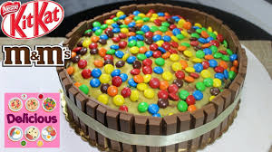homemade m u0026ms and kitkat cake recipe how to make m u0026ms and kitkat
