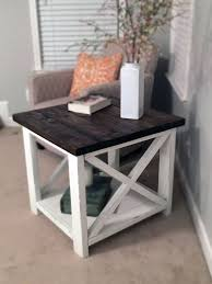 farmhouse end table plans farmhouse end table two toned by thechicnshabbybean on etsy