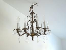 Aged Brass Chandelier Antique Brass Chandelier Vintage Style Ornate Large