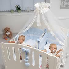 kinderzimmer zwillinge zwillingsbett gemini in weiß mit 2 separaten schlafplätzen
