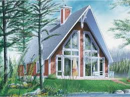 a frame roof eplans a frame house plan casual vacation home with stellar window