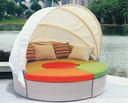 white wicker rattan daybed round bed sun sounger buy sun
