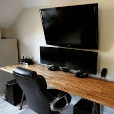 Homemade Gaming Desk by My 87 00 Ultrawide 8 U0027 Ikea Hacked Desk Diy