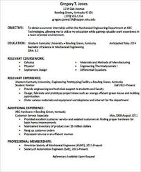 resume objective statements 4 example statement format